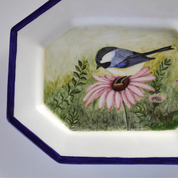 travessa o chapim-pintura em cerâmica-rosa afonso-feito com alma (2)